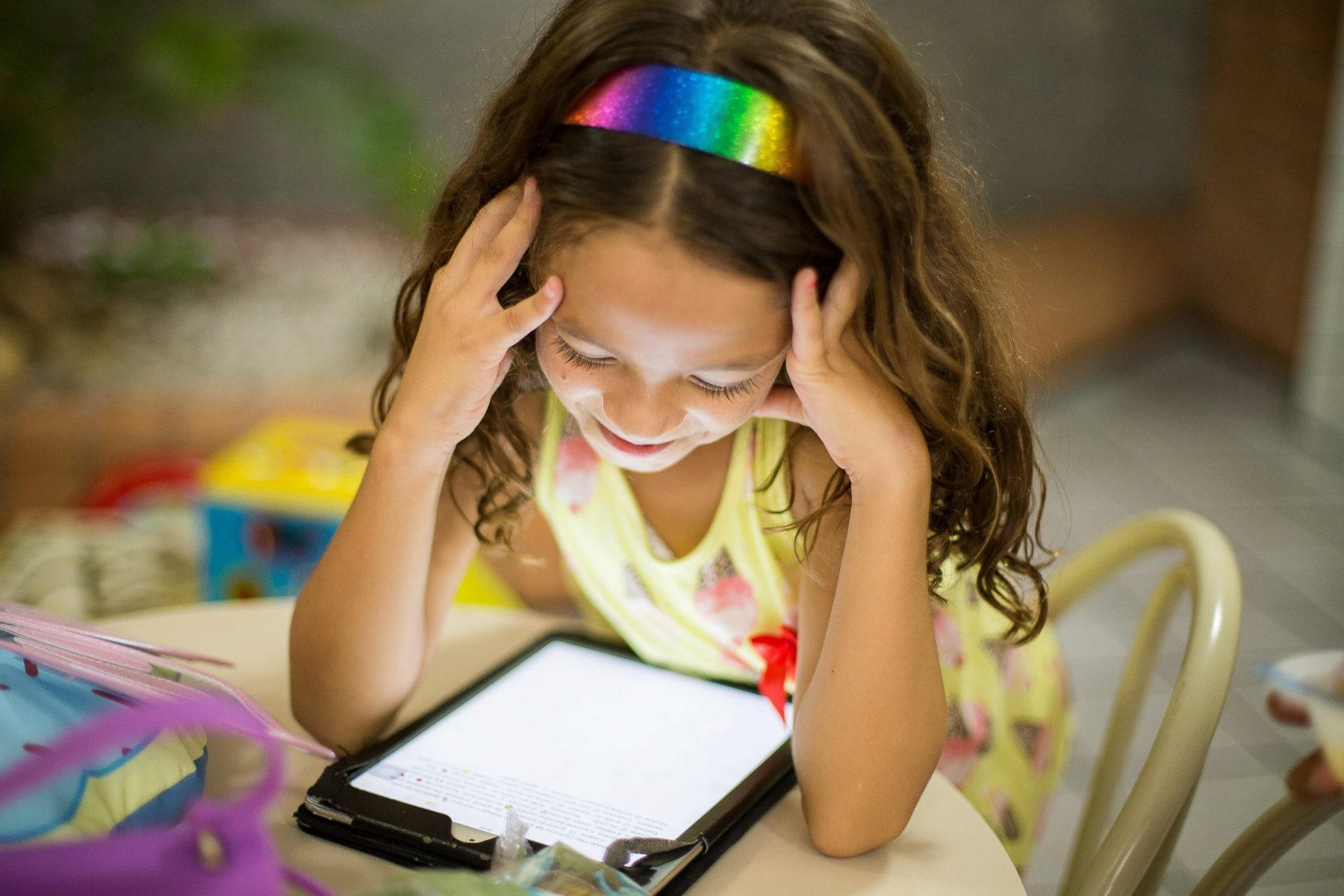 Child in Virtual Small Group