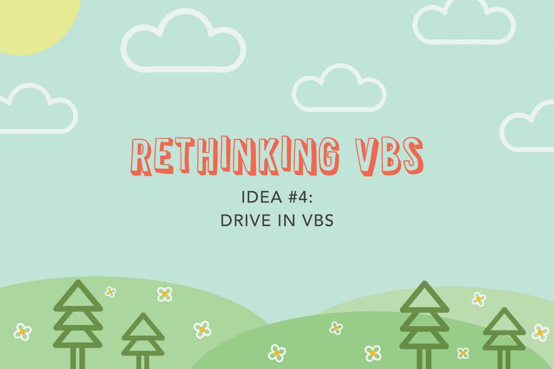 drive-thru VBS activity