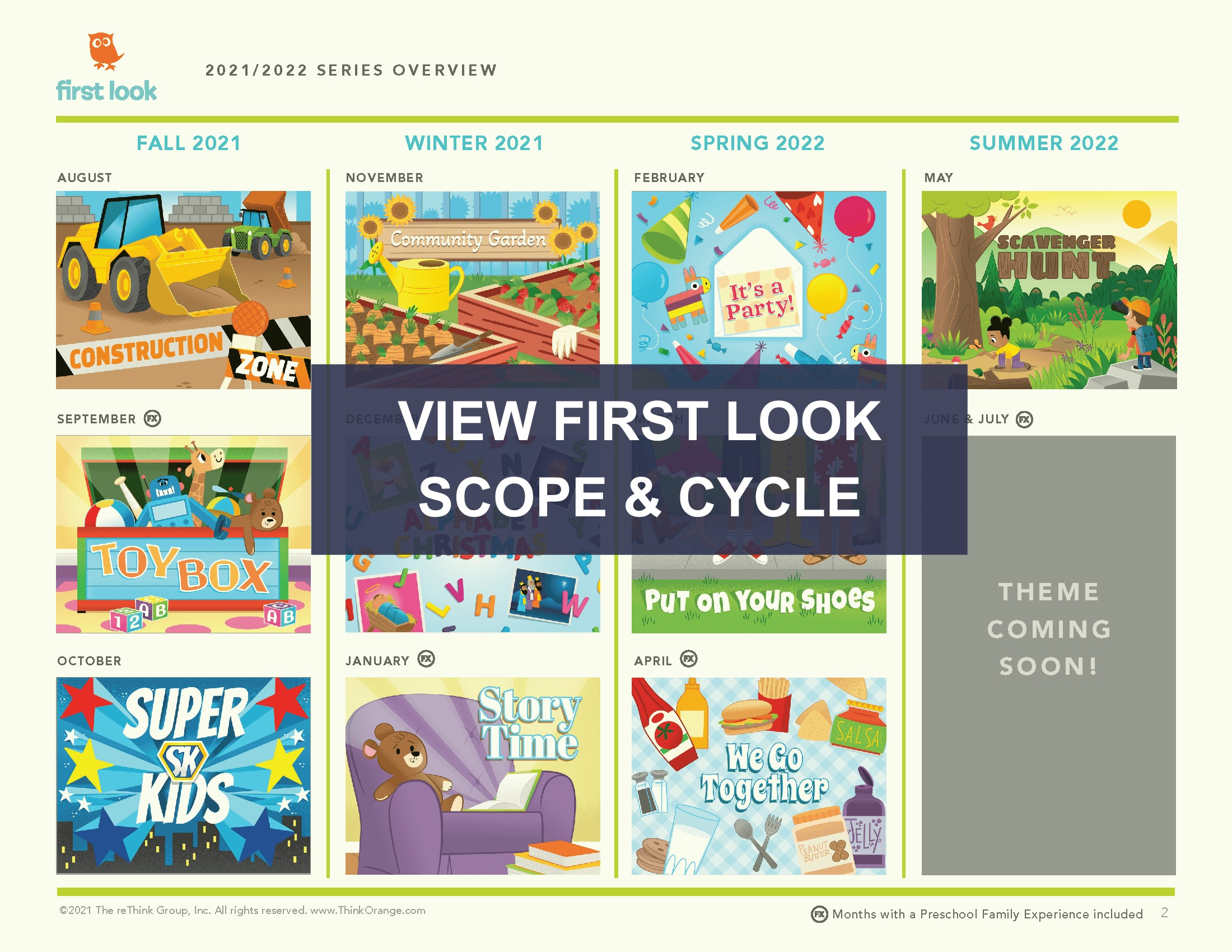 Orange Kids Curriculum First Look Scope and Cycle 2021 2022